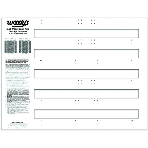 Woody's Quiet Pad Stuf Template, 2-Ply, 2.86 - 286QUIET-TEMP