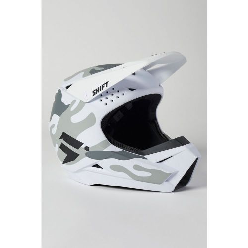 Shift Youth White Label Camo Helmet