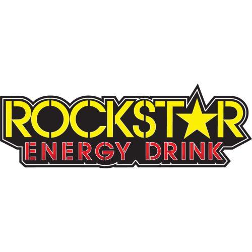 "Factory Effex Die-Cut 12x4"" Rockstar Text Sticker - 15-94720"