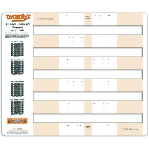 Woody's Stud Template, Single Ply, 3.00 - 300S-TEMP