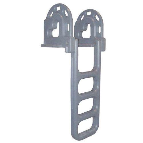 Dock Edge Grey Polyethylene Flip-Up Ladder - DE2064F