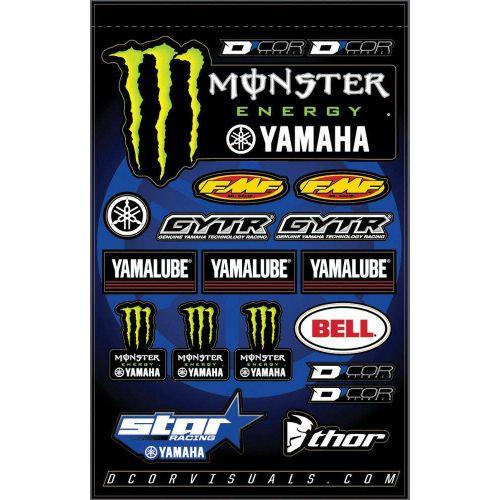 D'COR Visuals Star Yamaha Monster Decal Sheet - 40-50-117