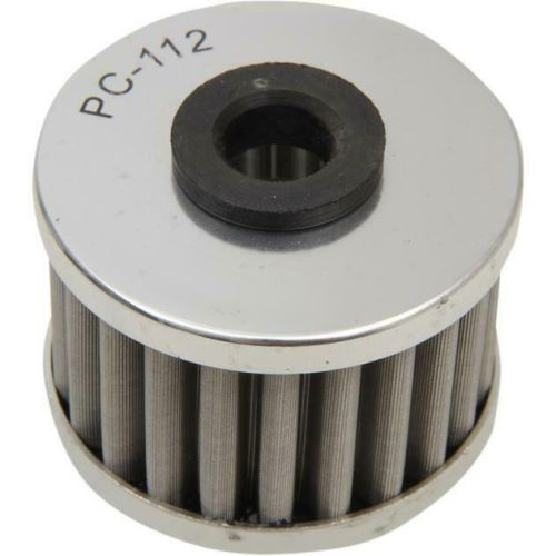 PC Racing Flo Stainless Steel Tall Front Oil Filter for KTM - PC155