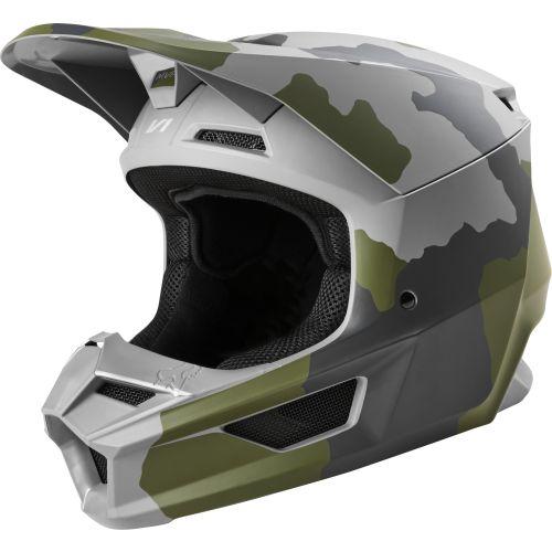Fox Racing Youth V1 Przm Camo MX Helmet