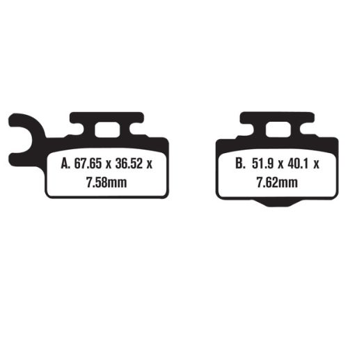 Bronco Brake Pad Set - 61-08060