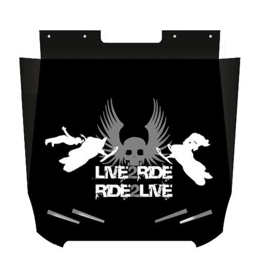 Proven Design Products Snow Flap Live 2 Ride Grey Arctic Cat - SF-PC12L2R54