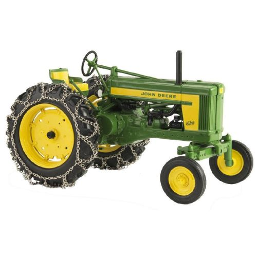 John Deere Tractor With Tire Chains - 45544