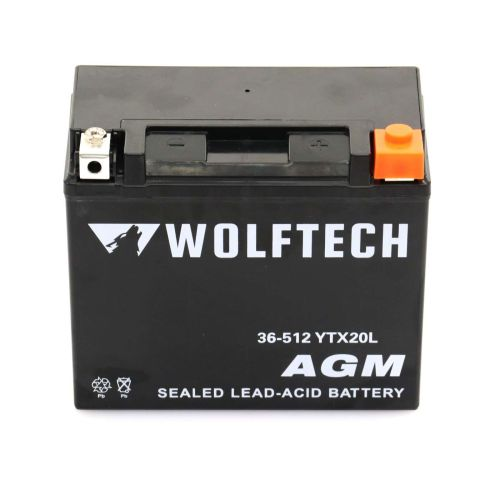Wolftech AGM Maintenance Free Battery - YTX20L