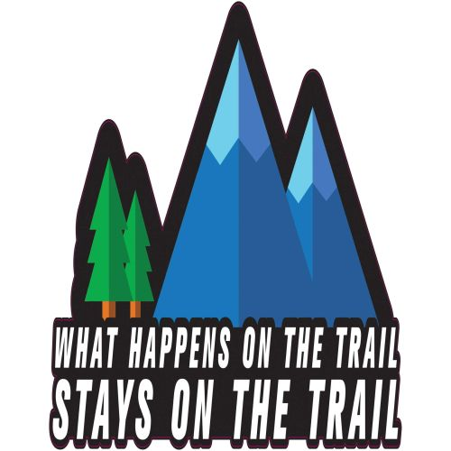 Royal Distributing Sticker Stays On The Trails - 12-1161