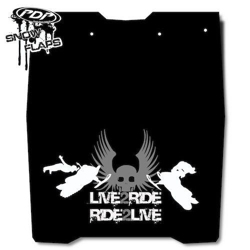 Proven Design Products Snow Flap Live 2 Ride Grey Ski-Doo - SF-REVL2R54
