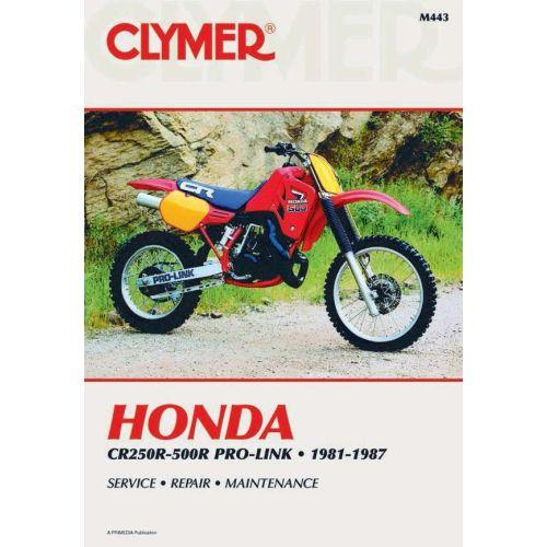 Clymer Repair Manual - Honda - CR250R-500R - M443