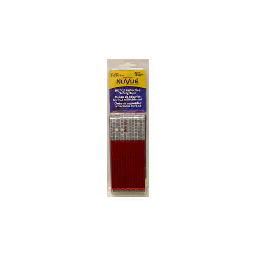 Nuvue Products Reflective Safety Tape 3 ft Red/White - 2603