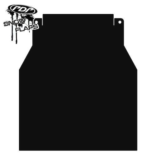 Proven Design Products Snow Flap Black Polaris Long - SF-PRO11PB-L