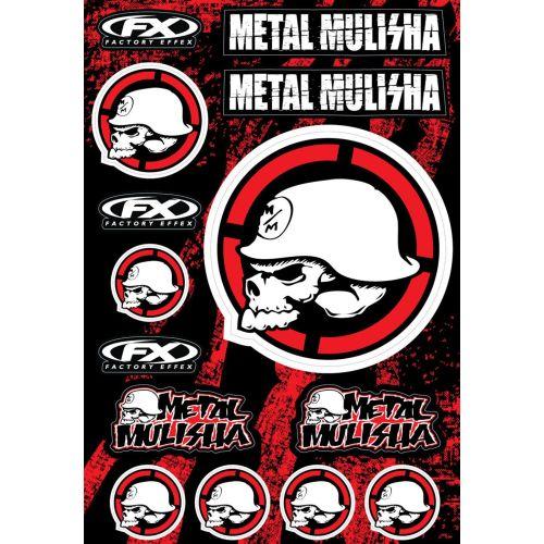 Factory Effex Metal Mulisha Sticker Kit 2 - 16-68052