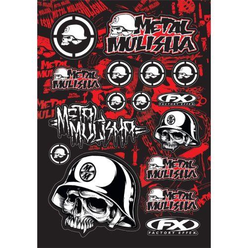Factory Effex Metal Mulisha Sponsor Sticker Kit