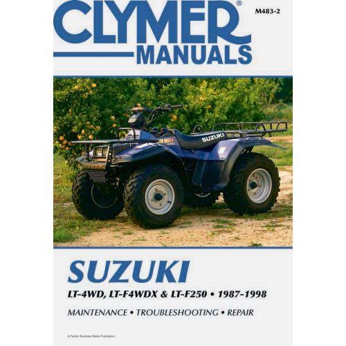 Clymer Repair Manual - Suzuki - LT-4WD/LTF4WDX/LTF250 - M483-2