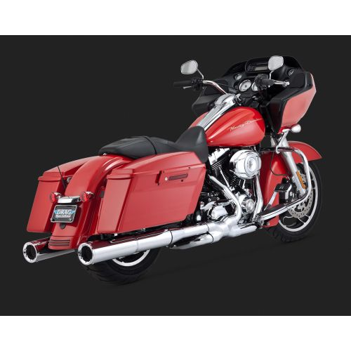 """Vance & Hines Hi-Output 4.5"""" Slip-On Exhaust for Harley - 16455"""