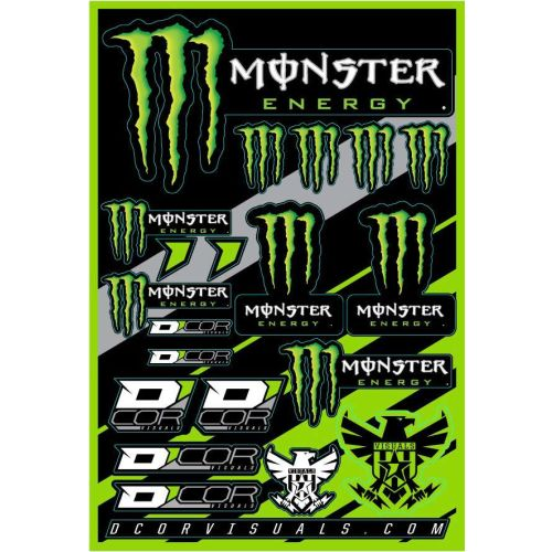 D'COR Visuals Monster Energy Decal Sheet - 40-90-102