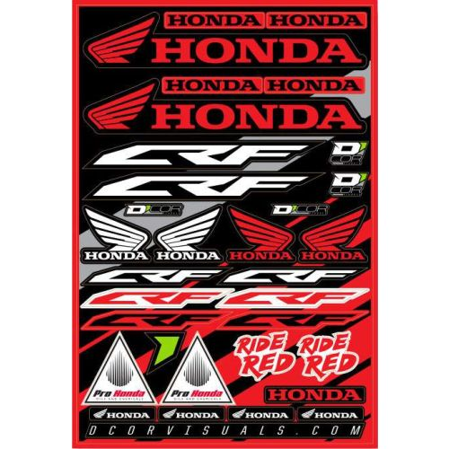 D'COR Visuals Honda CRF Decal Sheet - 40-10-100