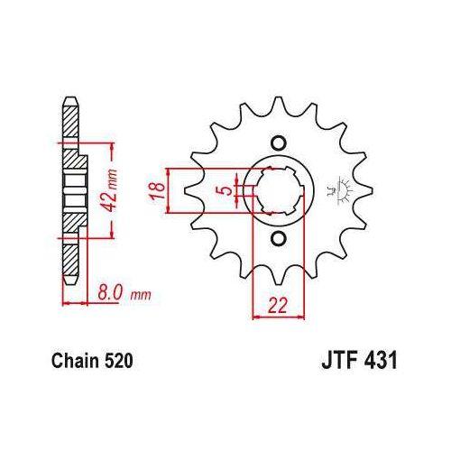 JT Sprockets 15T Sprocket for Suzuki