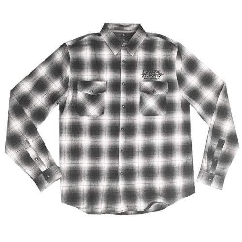 Lethal Threat Kustom Motorcycle Plaid Button-Up