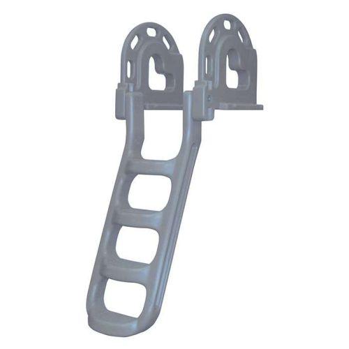 Dock Edge Polyethylene Stand Off Flip-Up Ladder - 2084B-F