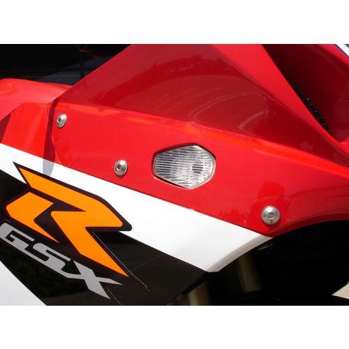 Hotbodies Racing Flush Mount LED Turn Signals for Suzuki - S04GS-SIG-CLR