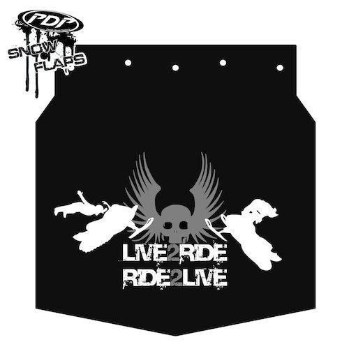 Proven Design Products Snow Flap Live 2 Ride Grey Arctic Cat - SF-Z1FL2R54