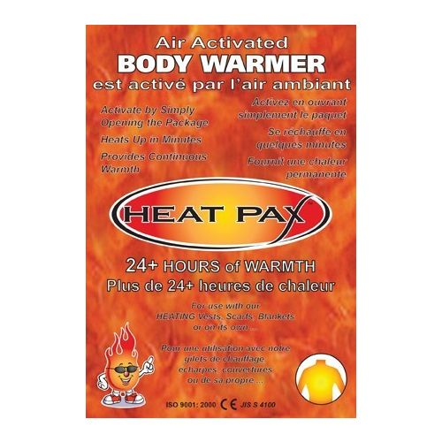 Heat Pax Body Warmers - AWES