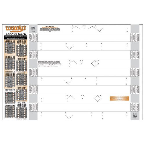 Woody's Stud Template, 2 Ply, 2.52 - 252T-TEMP-1