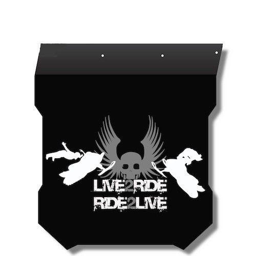 Proven Design Products Snow Flap Live 2 Ride Grey Polaris - SF-PROL2R54