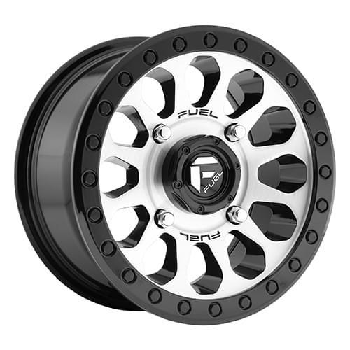 """Fuel Off-Road Vector Black/Brushed 14"""" Rim - D5801470A444"""