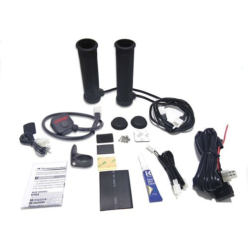 Koso North America Heated Grip with Thumbwarmer - AM10712G