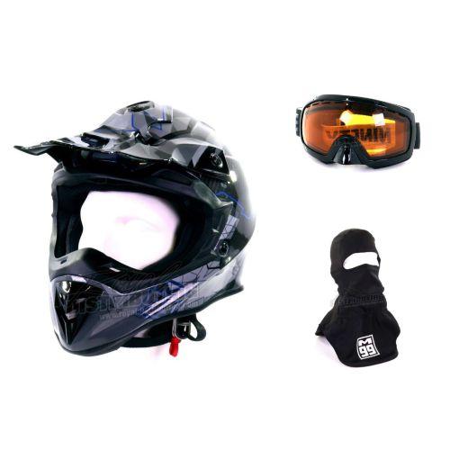 M99 Velocity Carbon Snow Helmet Combo