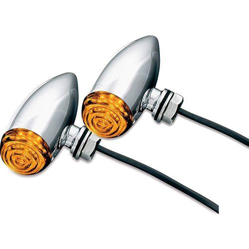 Kuryakyn Super Bright L.E.D. Mini Bullets Amber - 2500