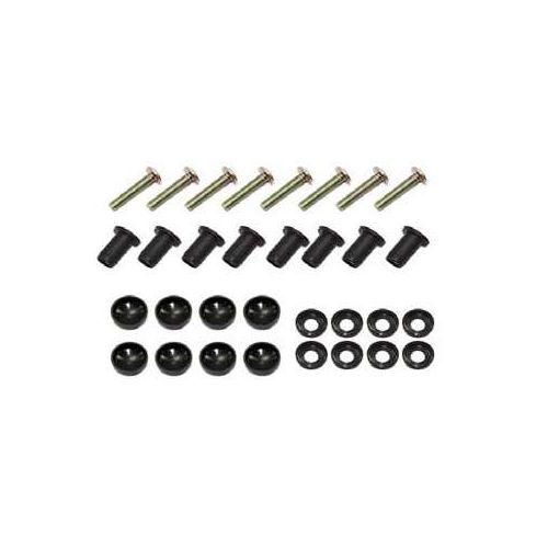 Sports Parts Inc. Windshield Screw, Cap & Wellnut Kit for Arctic Cat - SM-06013