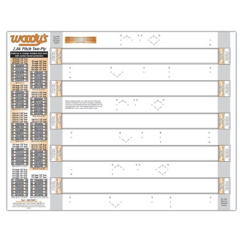 Woody's Stud template, 2 Ply, 2.86 - 286T-TEMP-2