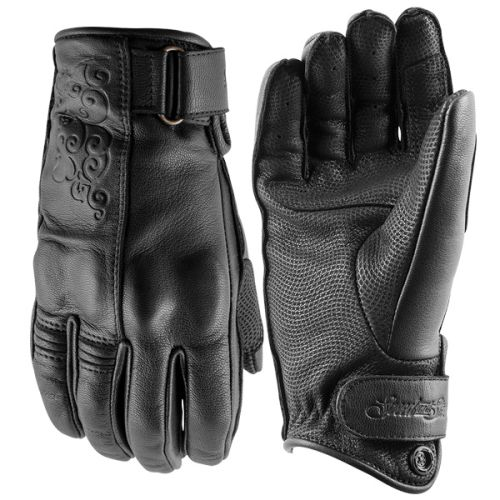 Speed and Strength Women's Black Heart Leather Gloves