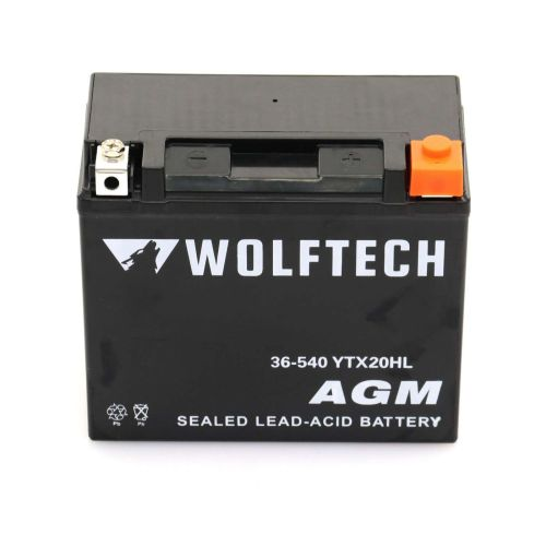 Wolftech AGM Maintenance Free Battery - YTX20HL